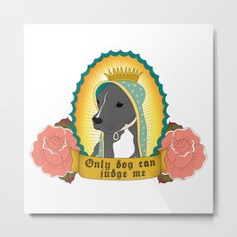 Only Dog Can Judge Me | Stella | Blue Nose Pitbull Metal Print