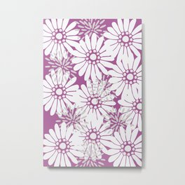 Summer Flowers Purple Metal Print