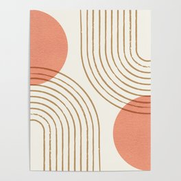 Sun Arch Double - Coral Poster