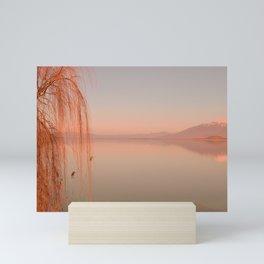 Autumn Lake Sunset Mini Art Print
