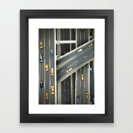New york city highways Framed Art Print