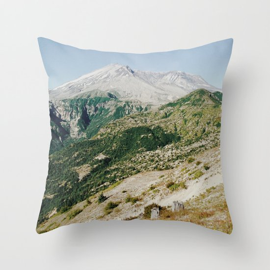 Mt St Helens Throw Pillow