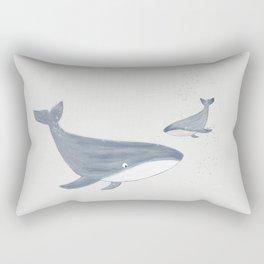 Two Whales Rectangular Pillow