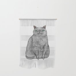 Grey Cat Wall Hanging