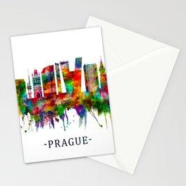 Prague Czech Republic Skyline Stationery Cards