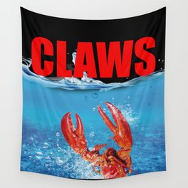 Claws Funny Claws Lobster Jaws Creature Wall Tapestry