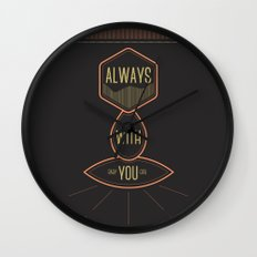 Always with you baby girl Wall Clock
