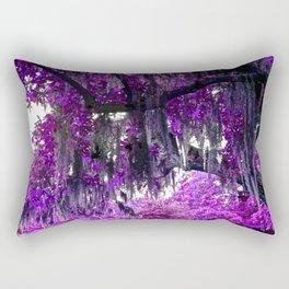 Trees Purple Moss Rectangular Pillow