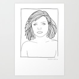 ANDY WARHOL POLAROIDS - DEBBIE-BLONDIE.  PORTRAIT    Art Print