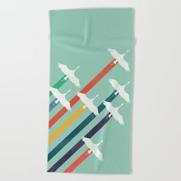 The Cranes Beach Towel