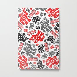 TroubleMaker Robot Pattern Metal Print