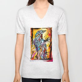The Beautiful Bird Is The One Who Gets Caged Unisex V-Neck