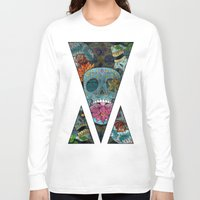 sugar skulls Long Sleeve T-shirts featuring Sugar Skulls Art by Spooky Dooky