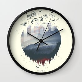 Happily lost Wall Clock