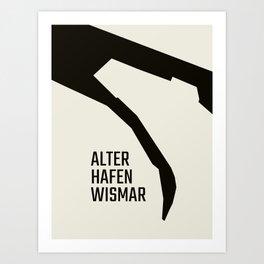 Wismar Alter Hafen Grotesk Art Print