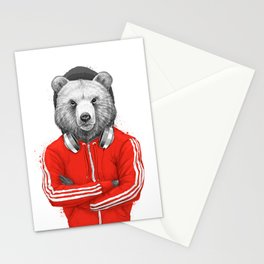 bear coach Stationery Cards