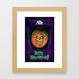 Hatty Halloween! Framed Art Print