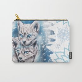 Blue Winter Lynx - Sheena Pike Art & Illustration Carry-All Pouch