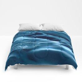 Deep Blue Drip Comforters