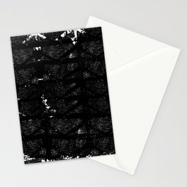 black and white urban pattern Stationery Cards