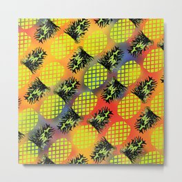 Pineapple 02 Metal Print