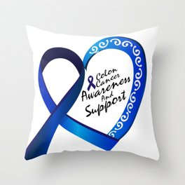 Colon Cancer Suppor Gifts Throw Pillow
