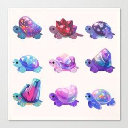Jewel turtle - pastel Canvas Print
