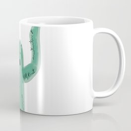 Cute cactuses with funny faces. Hand drawn illustration in cartoon style Coffee Mug