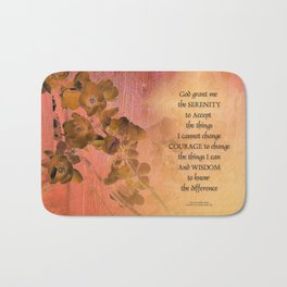 Serenity Prayer Quince and Fence One Bath Mat