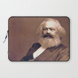 Portrait of Karl Marx by John Jabez Edwin Mayal Laptop Sleeve
