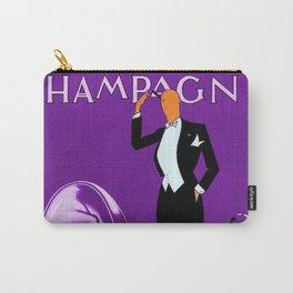 Vintage Champagne Purple Veuve A. Devaux, Paris, Jazz Age Roaring Twenties Advertisement Poster Carry-All Pouch
