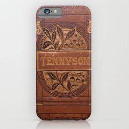Antique Book Cover * Book Lover * Complete Works of Tennyson * 1800's  Brown Gold #Tennyson iPhone Case