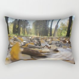 Landscape autumn in the future.Came up with an interesting angle as if in a fairy tale the sun shine Rectangular Pillow