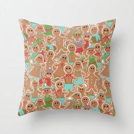 Gingerbread Delight Throw Pillow