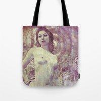 propaganda Tote Bags featuring Amanda Propaganda  by Sirenphotos
