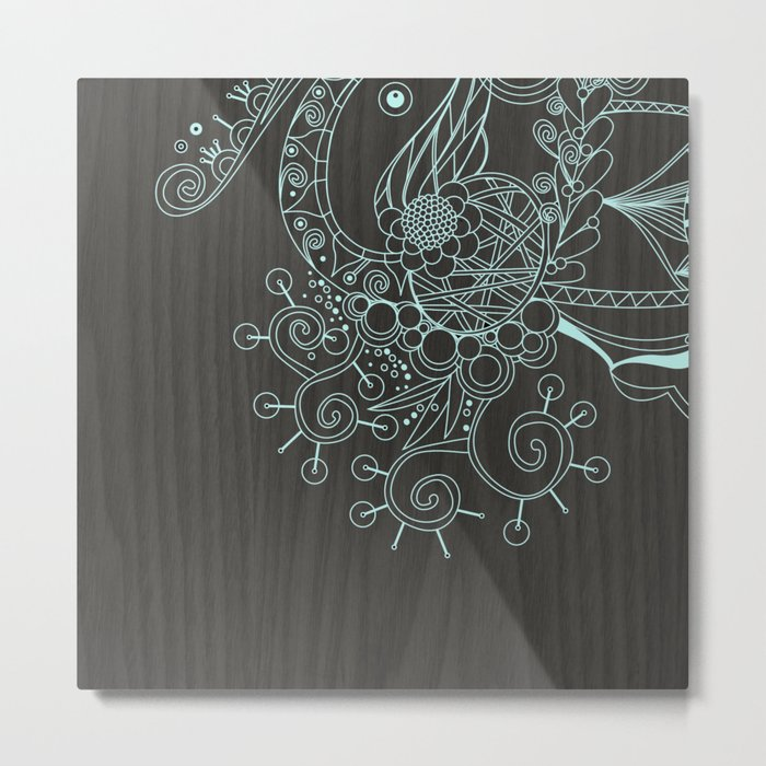 Tangle on dark wood Metal Print