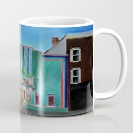Evening at the Colonial Movie Theater Painting Coffee Mug