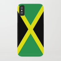 jamaica iPhone & iPod Cases featuring Jamaica Flag by Barrier _S_D