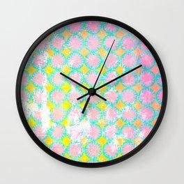Stencil overlay 1 pink Wall Clock