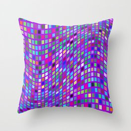 Lilac colorful Mosaic Throw Pillow