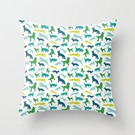 Dog Pattern Throw Pillow