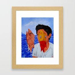 Sonhando sobre el Mar Framed Art Print
