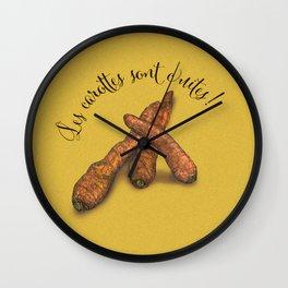 Les carottes sont cuites! Wall Clock
