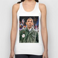 taxi driver Tank Tops featuring Obama taxi driver by IvándelgadoART