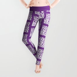 I Like to Party Read Books (Purple) Leggings