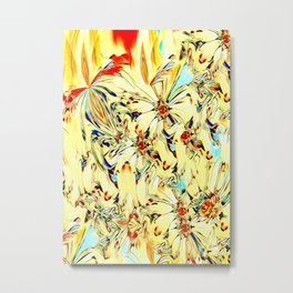 Bouquet of daisies abstract Metal Print