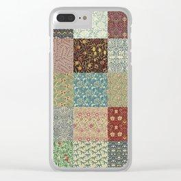 William Morris Collage Clear iPhone Case