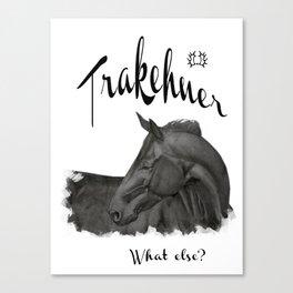 Trakehner -  what else? Canvas Print