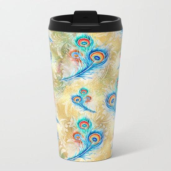 Feather peacock #16 Metal Travel Mug