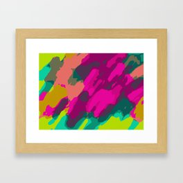 pink green and blue painting abstract background Framed Art Print